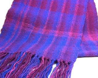 Hand woven table runner or shawl