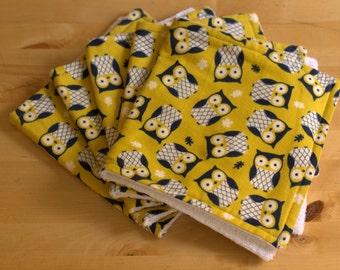Owl Print Burp Cloth Set (5pc)