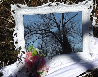 Ornate Mirror, Shabby Chic , Vintage Mirror, White Mirror,  Choose Color and Finish 28 1/2 x 22 1/2