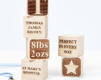 Personalised Baby Keepsake Building Block