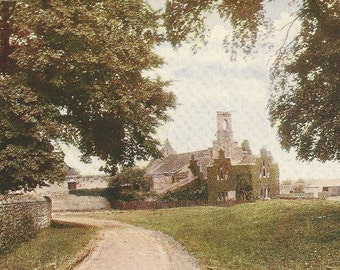 Quarr Abbey Near Ryde Isle of Wight Vintage Unused Postcard Beautiful Ivy Covered Abbey