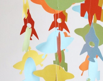 Outer Space Floating Paper Mobile