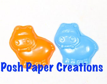 20 hippo crayons - in cello bag tied with ribbon - choose your colors
