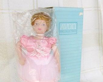 "Avon Childhood Dreams Porcelain Doll Collection ""Ballet Recital"" 1991 in Original Box Ballerina"