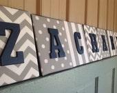 8x10 Nursery Letter, upholstered letter plaques, premier prints gray