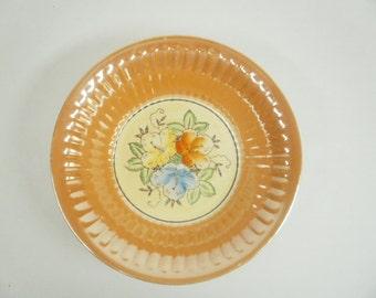 Vintage Japan Peach Luster Bowl