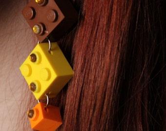 Earthy Lego Earrings
