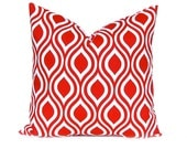 Pillow, Red Pillow, Throw Pillow, Decorative Throw Pillow Cover Red Nicole Premier Prints