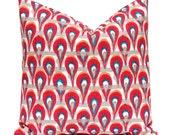 Red Pillow Cover, Pillow Cover, Throw Pillow Cover, Decorative Pillow Cover, Toss Pillow, Red Pillow, One, Chloe Poppy Birch Orange Pillow