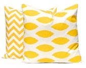 Yellow Pillow Cover, Yellow Chevron Pillow Cover, Yellow Pillows, Throw Pillow Covers Inches Yellow Nursery Decor Yellow Ikat Yellow Cushion