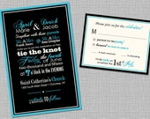 Printable: Modern Letterpress Custom 5x7 Wedding Invitation- Designed to Order