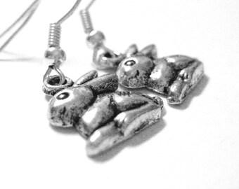 Bunny Earrings - Easter Bunny Rabbit Earrings - Girls Easter Jewelry - Sterling Silver Rabbit Jewelry 023