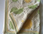 UK Terms Dotty Spotty Baby Blanket  PDF Crochet Pattern