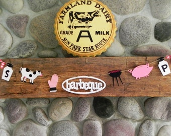 Let's BBQ! ---A Decorative Banner for the Backyard Gathering---Ready to Ship