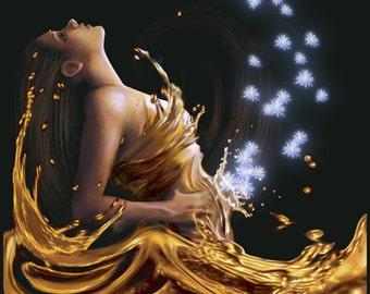 WOMAN IN GOLD - 2 or 4 fl oz Oriental Floral Perfume Spray for Women or 10 ml Parfum Oil - Accords; Balsamic, Powdery, Vanilla, Amber, Woody