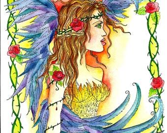 Instant Download Warrior Angel Art Print Digital Digi