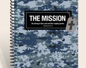 Gift for Soldier / Personalized Prayer Journal / Military Gift- Blue Camo
