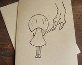 Girl & Rex Card - Comfort