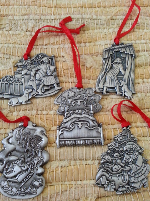 Vintage twas the night before christmas holiday tree ornaments
