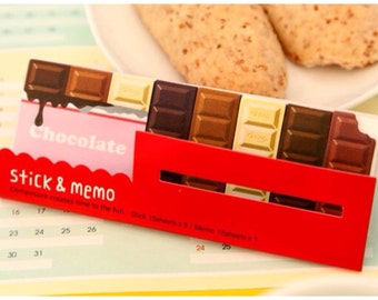 Chocolate bar Sticky Post It Memo Note Pad 90 sheets SS713