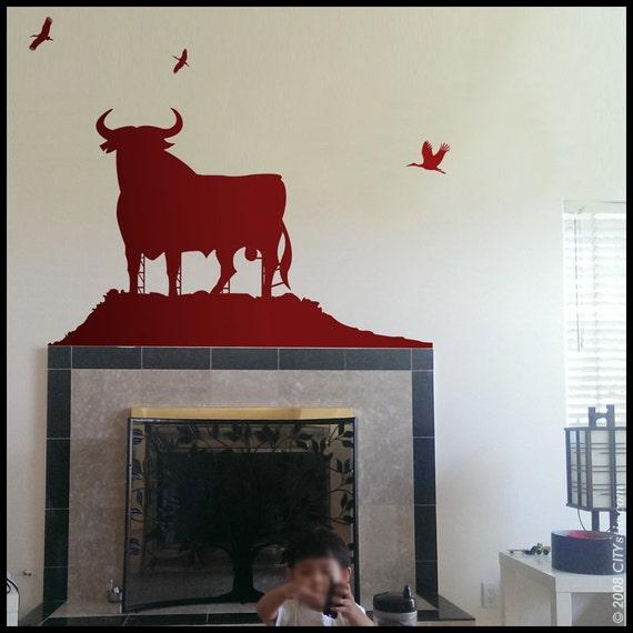 SPAIN WALL DECAL : Osborne bull in the wild advertisement scenery