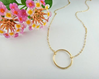 Gold Halo Necklace