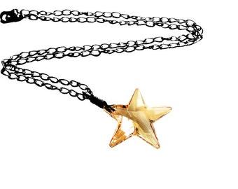 Get 15% OFF - Swarovski Crystal Star Pendant Necklace - Labor Day SALE 2017