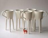 Giraffe Cups (2x) Unique Coffee Mugs Ceramic Design