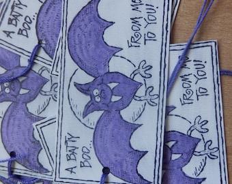 BOO -  Batty Boo Halloween Tags (10)