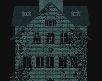 The War on Drugs, screen print Gig Poster