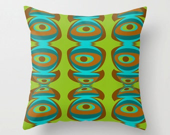 Modern Pillow Cover, Green Pillow Cover, Geometric Pillow Cover ,MidCentury Modern Pillow Cover, Cool Pillow Cover, Decorative Pillow Cover