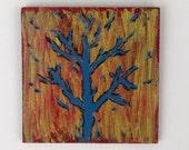 Burning Tree Acrylic On Wood