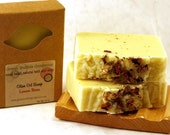 Olive Oil Soap, Lemon Rose, made with organic oils and essential oils, FREE SHIPPING, by greenbubblegorgeous
