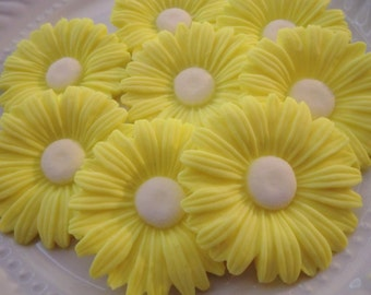 10 sunflower soap favors - daisy soap baby shower favors - garden bridal shower favors - sunflower wedding favors - garden birthday favors