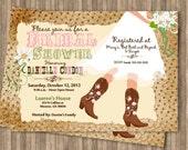 Cowboy Boot's Bridal Shower Printable Invitation