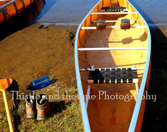 Yellow Canoe Photograph - 5x7 Photographic Art Print