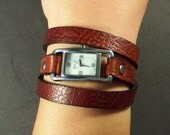 Wrap Watch-Women Watch-Bracelet Watch-Brown Watch-Friendship Bracelet Watch-Montre-Women Wrist Watch-Friendship Gifts-Watch-Leather-Gifts