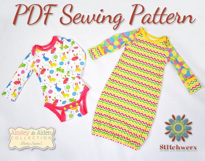 Onesie Sewing Pattern Baby Bodysuit Pattern Baby T Sewing
