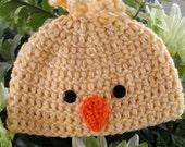 Chunky Baby Chick Crochet Beanie