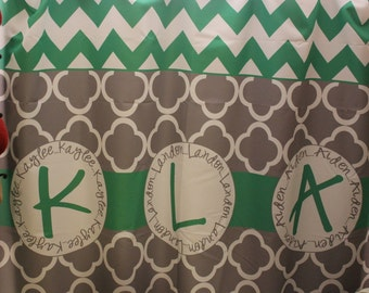 Custom Shower Curtain-Personalized with any monogram, name, color, design