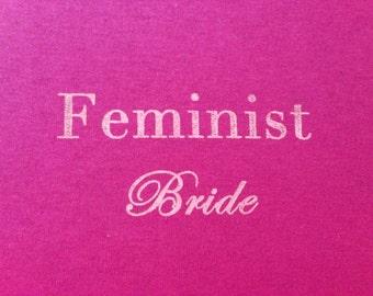 Pink Feminist Bride T-Shirt - SMALL