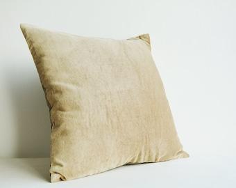Set of 2 , Beige Velvet Pillows , Beige Velvet Cushion Cover , Beige Decor Pillow , Velvet Throw Pillow