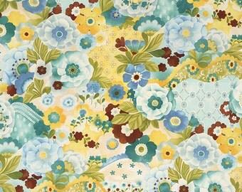 Lulu - Watercolor Garden in Mist by Chez Moi for Moda Fabrics