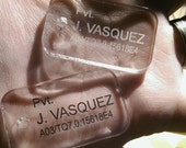 Clear Acrylic Dog Tags (custom)