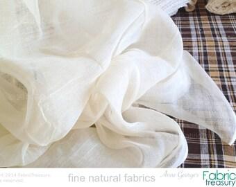 """Unbleached Organic cotton muslin gauze for baby swaddling, summer scarf, doll fashion, gauze curtain, bug net, summer dress. 42"""" W."""