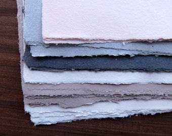 10 Sheets Handmade Paper - Imperfect sheets - 11x14