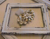 Metal Flower Brooch Wrist Corsages Champagne White Gold
