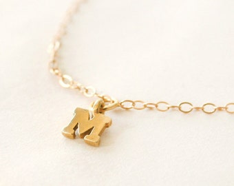 Tiny Custom Gold Initial Bracelet - simple everyday jewelry