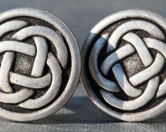 Celtic Knot Cufflinks Mens Irish Cufflinks Steampunk Wedding