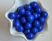 20mm Royal Blue Solid Chunky Beads